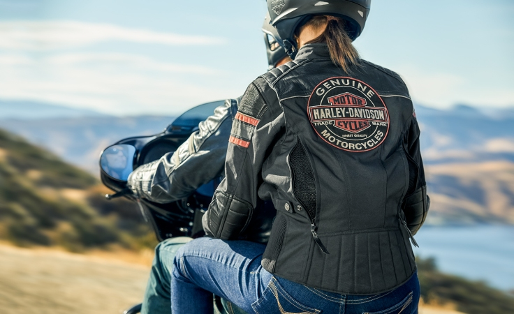 Harley Davidson womens vented leather jacket