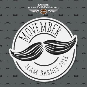 Barnes Harley-Davidson Movember Logo 2018